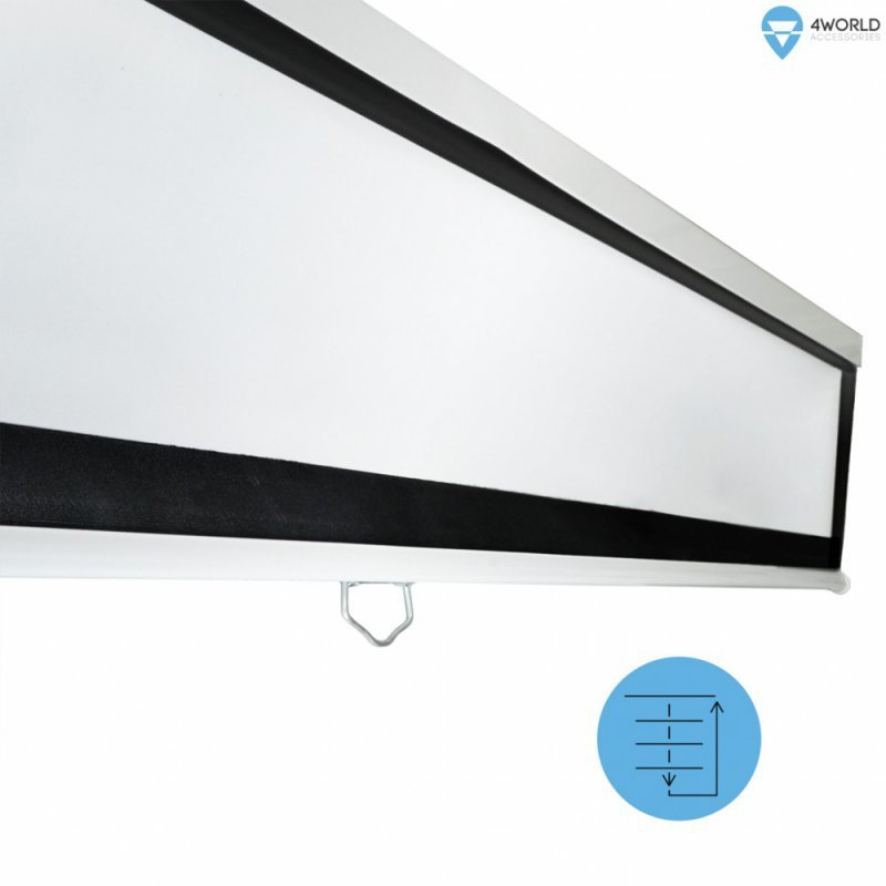 """4world Ekran projekcyjny ścienny 265x149 (120"""",16:9) Biały matowy"""