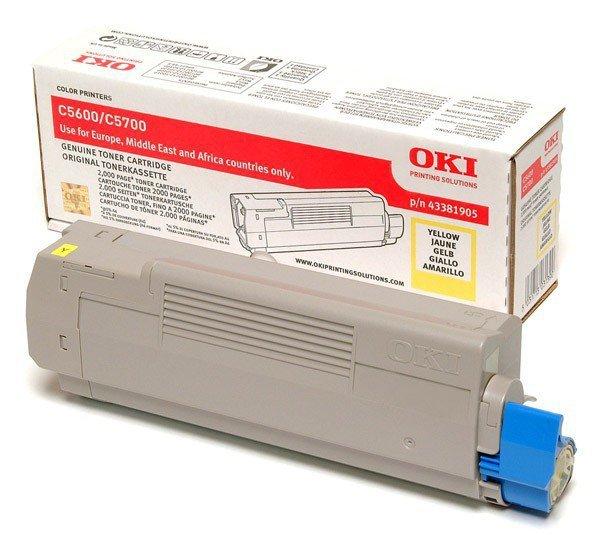OKI Toner C5600/5700 Yellow (2k)