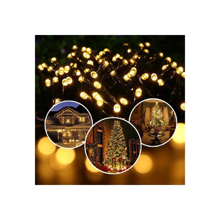 LAMPKI CHOINKOWE 100 LED EFEKT FLASH WEWNĘTRZNE ZIMNY BIAŁY