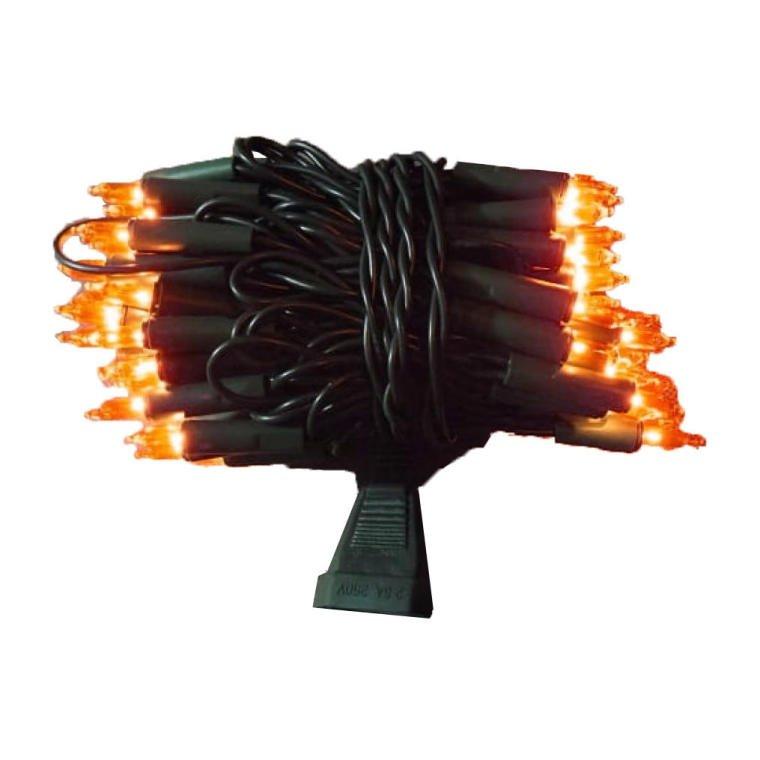 LAMPKI CHOINKOWE 100SZT POMARAŃCZOWE OŚWIETLENIE CHOINKOWE