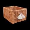 Skrzynka z pomponami (28cm) - sklep z wiklina - zdjęcia