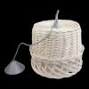 Żyrandol (Biały/28 cm) - sklep z wiklina - zdjęcie