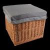Kufer - skrzynia z siedziskiem- naturalna-45cm - sklep z wiklina - zdjęcie