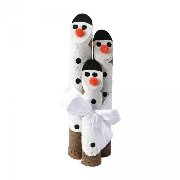 Drewniane Mikołaje 3 (Leszczyna/30cm) - sklep z wiklina - zdjęcie
