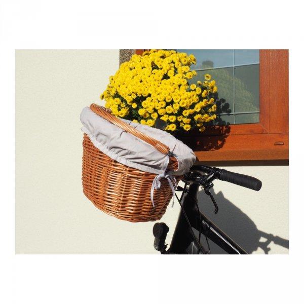 Kosz rowerowy z wkładem (Haki/naturalny) - sklep z wiklina - zdjęcia 7