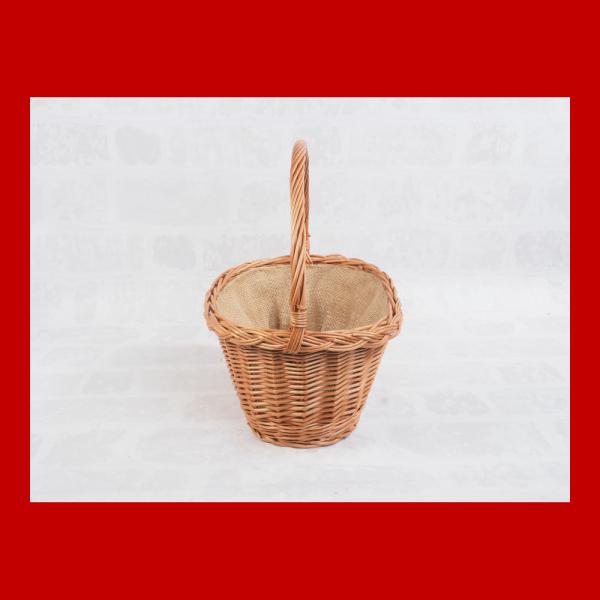 Kosz prezentowy - obszyty płótnem (35cm) - sklep z wiklina - zdjęcie 1