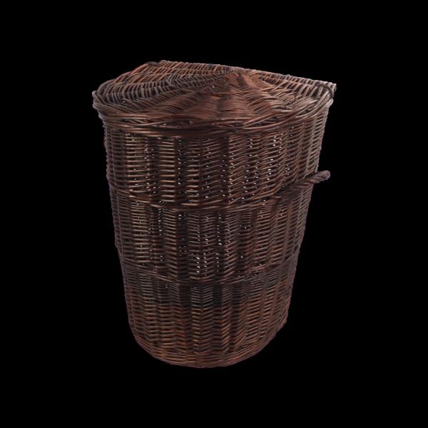 Kosz na ubrania (Półokrągły/Wenge/50cm) - sklep z wiklina - zdjęcie
