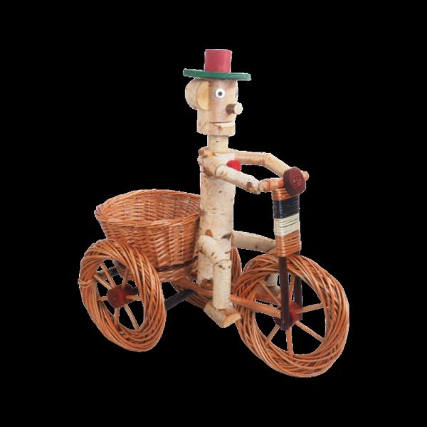Osłonka na doniczkę - dekoracja (Chłopek/Duży) - sklep z wiklina - zdjęcie