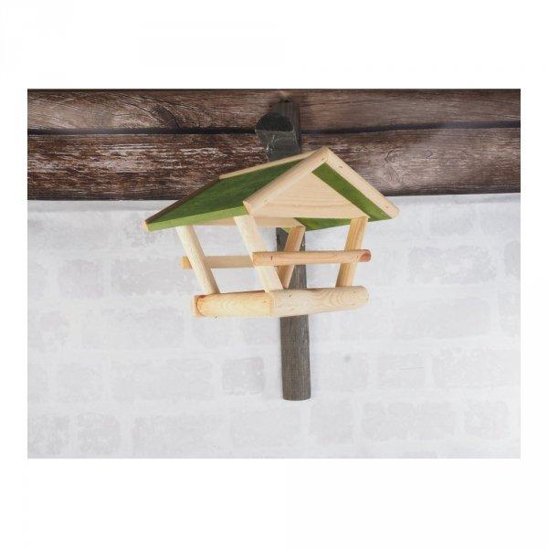 Karmnik dla ptaków (Drewno/Zielony) - sklep z wiklina - zdjęcie 3