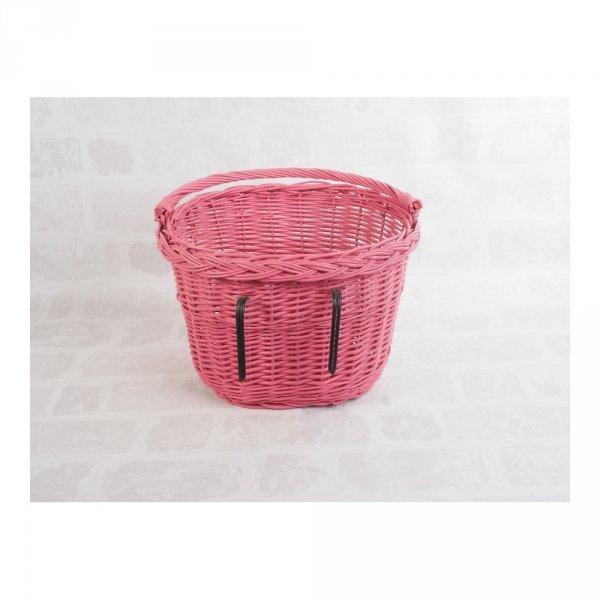Kosz rowerowy przedni (haki, różowy) - sklep z wiklina - zdjęcie 2
