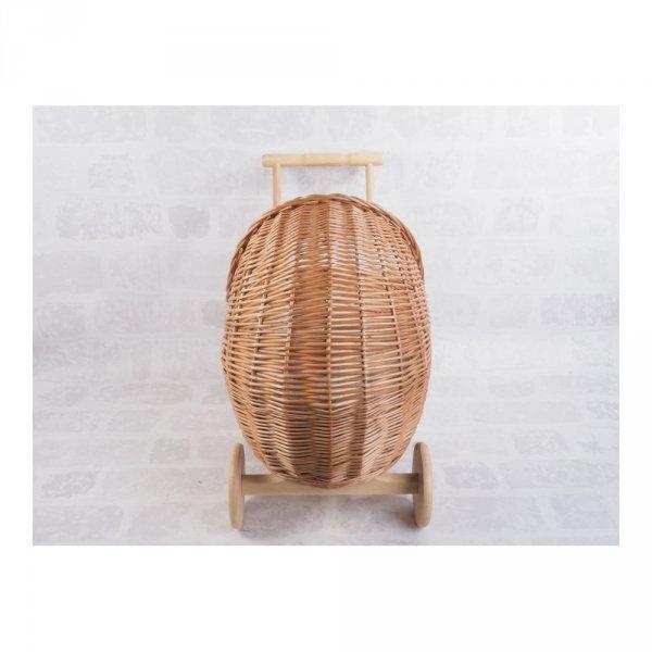 Wózek dla lalek (Warkocz/55cm) - sklep z wiklina - zdjęcie 4