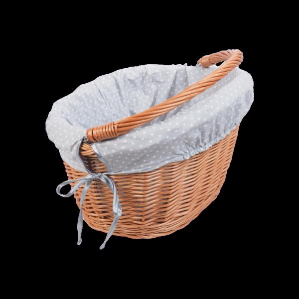 Kosz rowerowy Haki (Wkład/Naturalny) - Sklep z wiklina - zdjecie