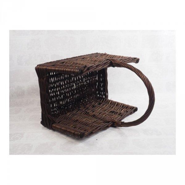 Kosz na drewno do kominka - (prostokąt/wenge) - sklep z wiklina - zdjęcie 2