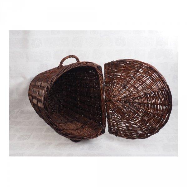 Kosz na ubrania (Półokrągły/Wenge/50cm) - sklep z wiklina - zdjęcie 1