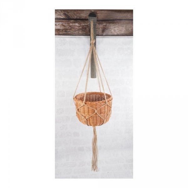 Kwietnik wiszący (boler/30cm) - sklep z wiklina - zdjęcie 2