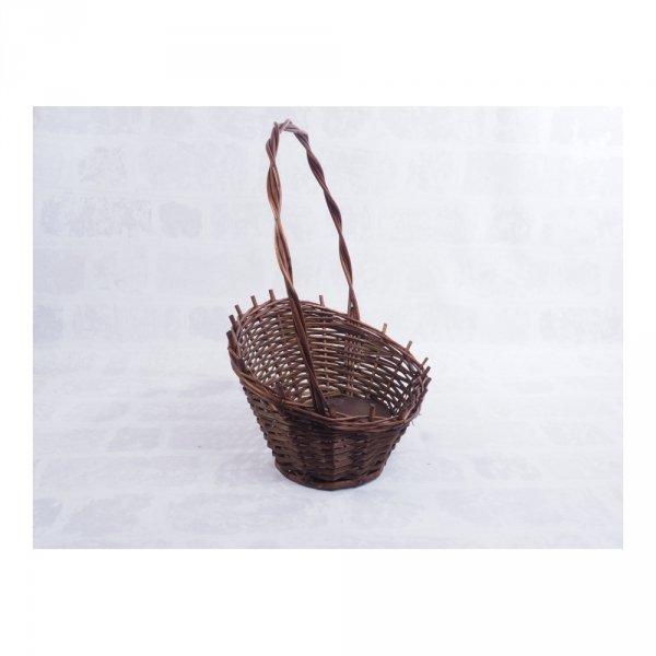 Kosz prezentowy - wenge - średni - sklep z wiklina - zdjęcie 1