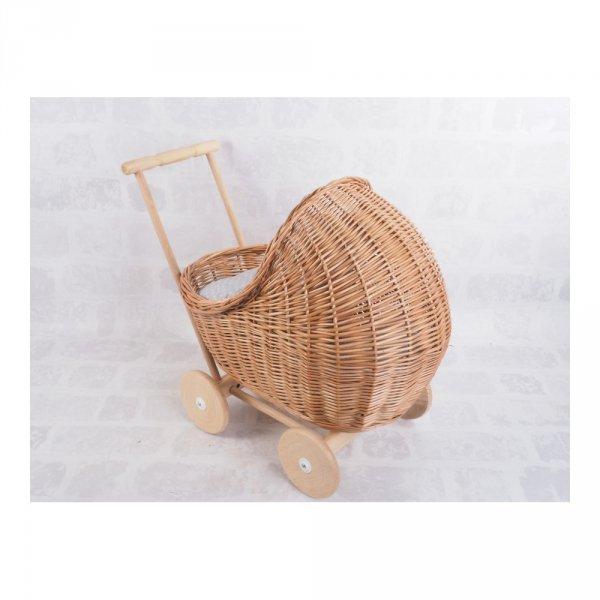 Wózek dla lalek (Warkocz/55cm) - sklep z wiklina - zdjęcie 2