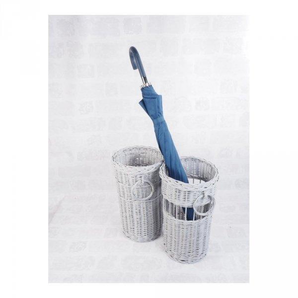 Kosz na parasole (Ażur/Szary) - sklep z wiklina - zdjęcie 1