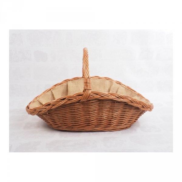 Kosz na drewno z wyścieleniem z juty (Talerz) - sklep z wiklina - zdjęcie 2