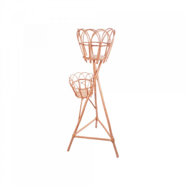 Stojak na kwiaty - kwietnik (ażur/2D) - sklep z wiklina - zdjęcie