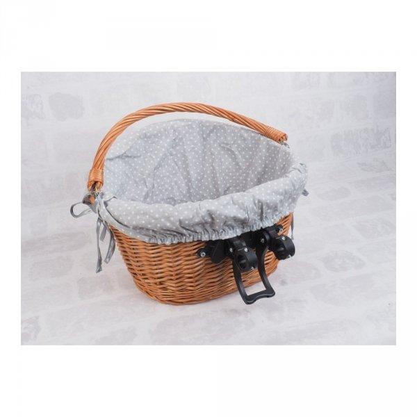 Kosz rowerowy z wkładem (Clik/naturalny) - sklep z wiklina - zdjęcie 6