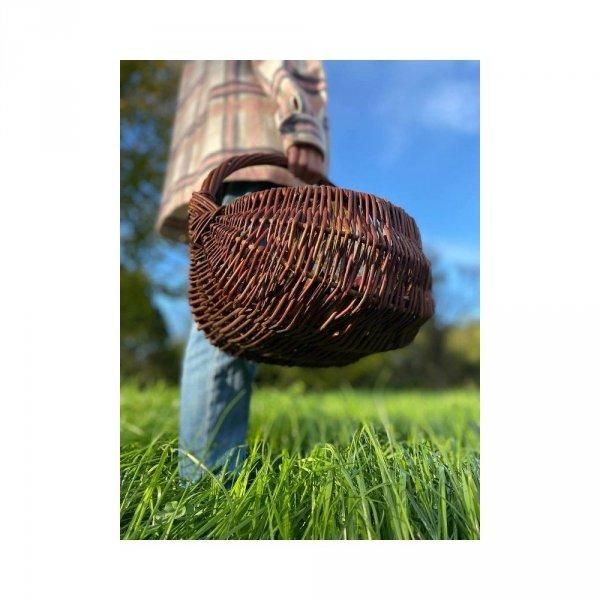 koszyk gospodarczy (baniak/25cm) - sklep z wiklina - zdjęcie 2