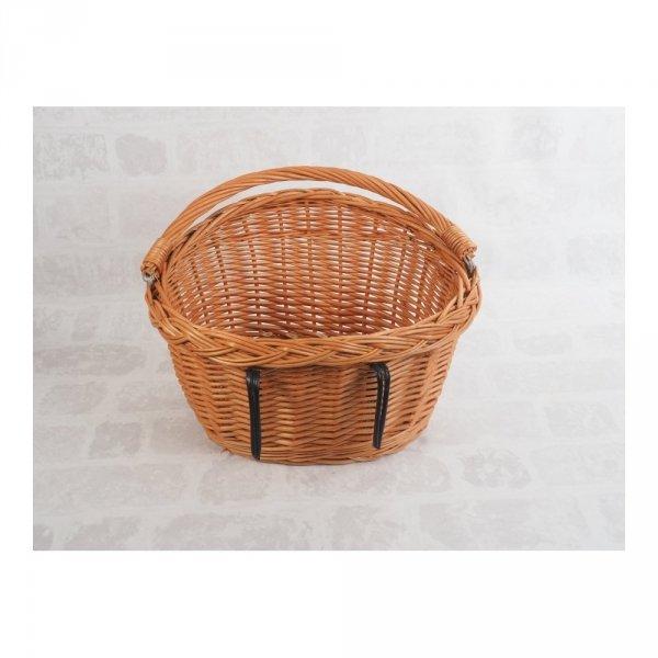 Kosz rowerowy przedni (haki, naturalny) - sklep z wiklina - zdjęcie 3
