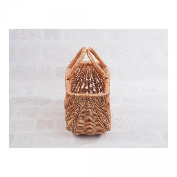 Kosz na zakupy (San/garbaty 30 cm) - sklep z wiklina - zdjęcie 1