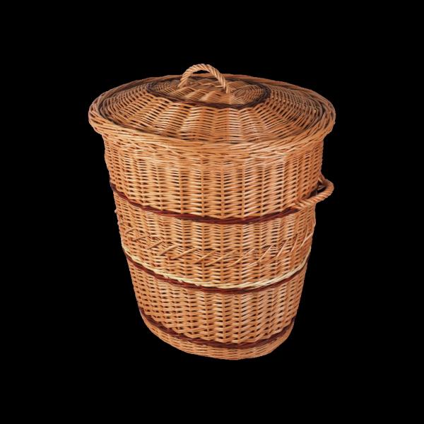 kosz na ubrania (owal/70cm) - sklep z wiklina - zdjęcie