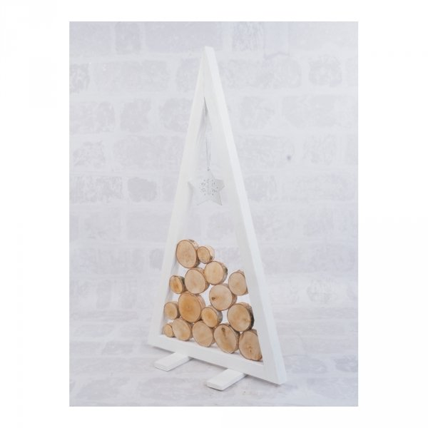 Choinka Drewniana (Biała/Plaster/60cm) - sklep z wiklina - zdjęcie