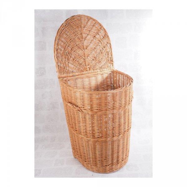 Kosz na ubrania (półokrągły/35cm) - sklep z wiklina - zdjęcie 1