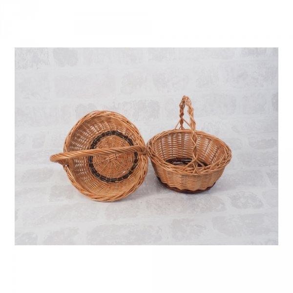 Koszyczek Wielkanocny (okrągły) - sklep z wiklina - zdjęcie 3