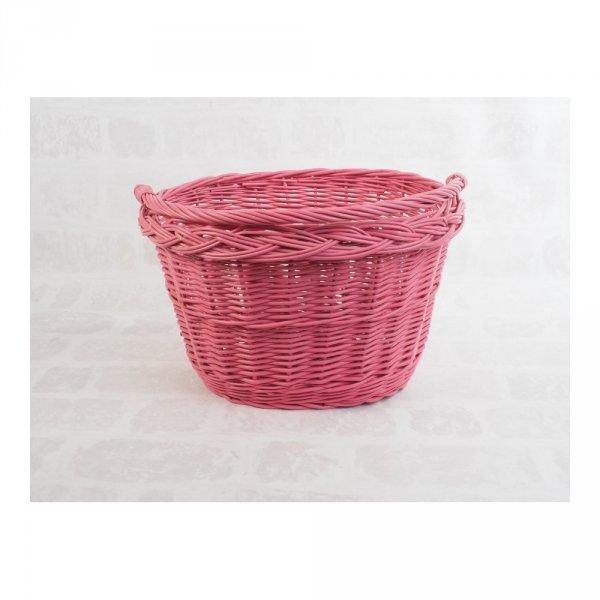 Kosz rowerowy przedni (haki, różowy) - sklep z wiklina - zdjęcie 1