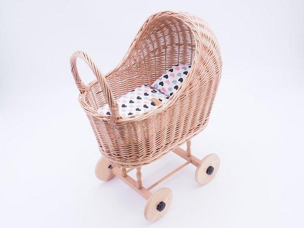 Wózek dla lalek (Klasyczny/Wzór) - Sklep z wiklina - zdjęcie