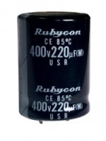 220uF 400V Snap-In Rubycon
