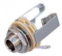 Gniazdo Jack 6,3mm Stereo, metalowe NYS230