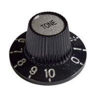 Gałka gitarowa vintage, czarna 'TONE'