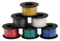 Kabel jednożyłowy solid 0,25mm2 zielony (drut)