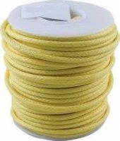Kabel jednożyłowy vintage żółty