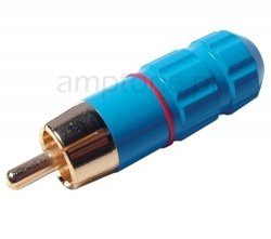Wtyk RCA Switchcraft Blue-Red