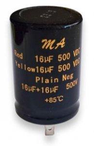 Kondensator 16uF+16uF 500V