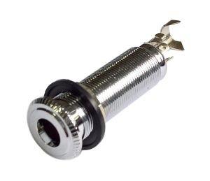 Gniazdo Jack 6,3mm stereo cylindryczne T3 chrom