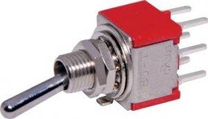 Przełącznik dźwigniowy DPDT M202 mini - PCB do druku