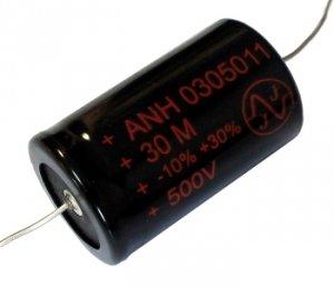 Kondensator 30uF 500V osiowy JJ