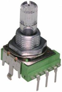 Potencjometr Alpha 14mm Clear 20k W-taper