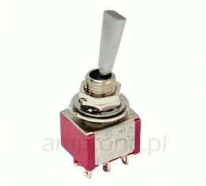 Przełącznik dźwigniowy DPDT Carling płaska dźwignia