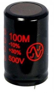 Kondensator 100uF 500V Snap-in JJ