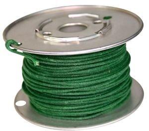 Kabel vintage zielony solid 0,8mm2