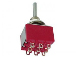 Przełącznik 3PDT M303 mini (ON-OFF-ON)