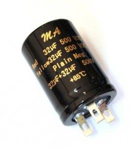 Kondensator 32uF+32uF 500V